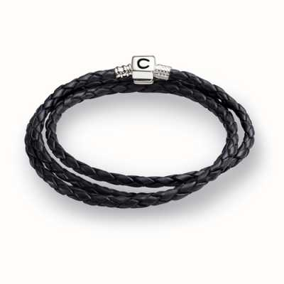 Chamilia Ebony Braided Leather Wrap Bracelet (56.4 cm/22.2 in) 1 1212-0004