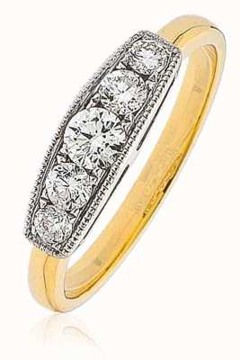 18k Y/Gold 0.50ct Diamond (G SI1)  Ring XYR10473(YG)