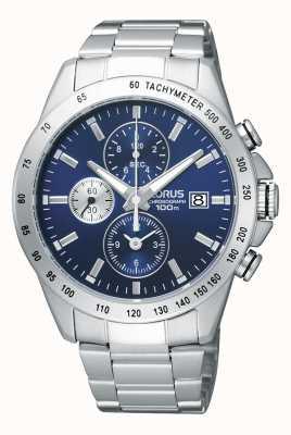 Lorus Mens Chronograph Steel Bracelet Watch RF851DX9