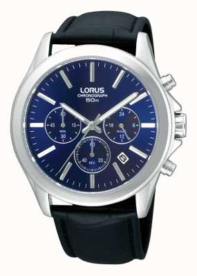 Lorus Mens Chronograph Leather Strap Watch RT389AX9