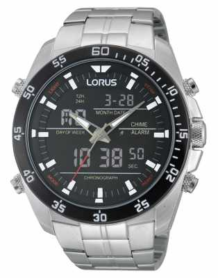 Lorus Silver Steel Alarm Chronograph Watch RW611AX9