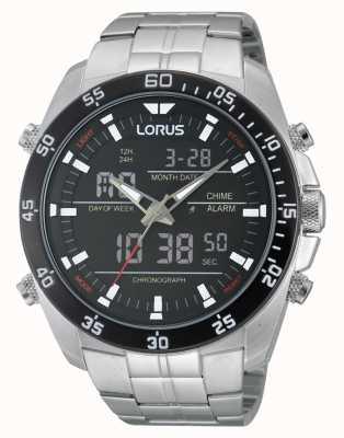 Lorus Silver Steel Alarm Chronograph Watch RW611AX9