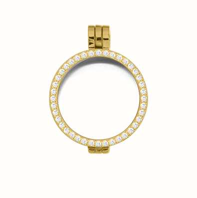 MY iMenso Medallion With Cz-Stones 24mm (925/Gold-Plated) 24-0071