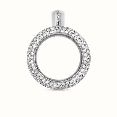 MY iMenso Sphérique 925/Rhod-Plated Medallion Cz 24mm 24-0077