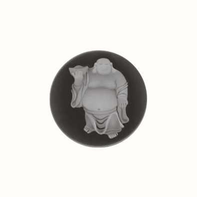 MY iMenso Buddha Agate Cameo 24mm Insignia (Black) 24-0122