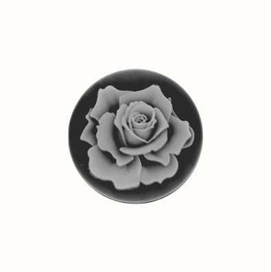 MY iMenso Rose Agate Cameo 24mm Insignia (Black) 24-0123