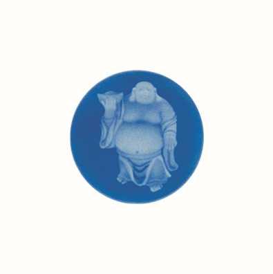 MY iMenso Buddha Agate Cameo 24mm Insignia (Blue) 24-0133