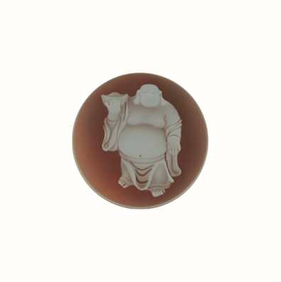 MY iMenso Buddha Agate Cameo 24mm Insignia (Red) 24-0144