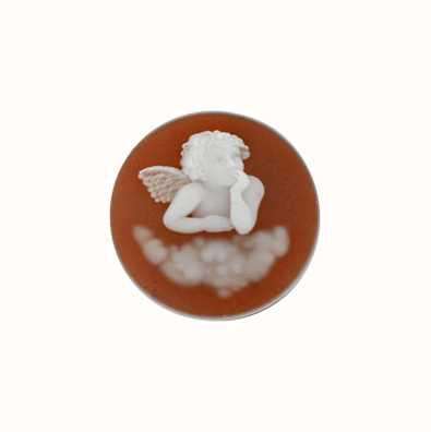 MY iMenso Angel Agate Cameo 24mm Insignia (Red) 24-0163
