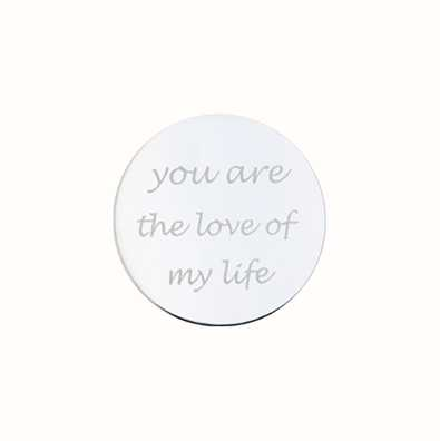 MY iMenso You Are The Love Of My Live Engraving 24mm Insig 24-0286