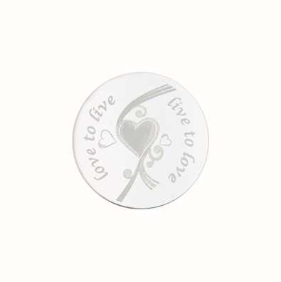 MY iMenso Love To Live Engraving 24mm Insignia (925) + Gla 24-0289