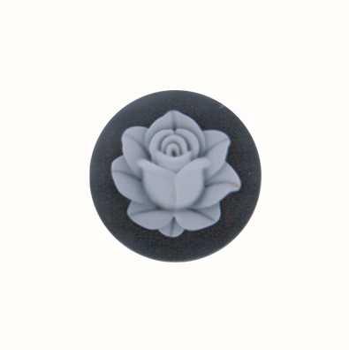 MY iMenso Lotus Agate Cameo 24mm Insignia (Black) 24-0411