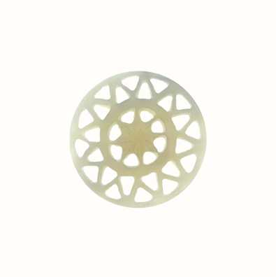 MY iMenso White Carved Flower 24mm Shell Insignia 24-0537