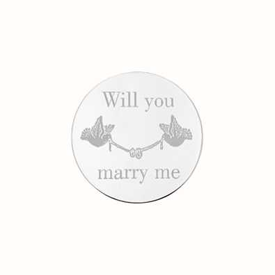 MY iMenso Will You Marry Me Engraving 24mm Insignia (925) 24-0618