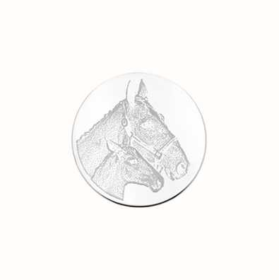 MY iMenso Horse & Foal Engraving 24mm Insignia (925) + Gla 24-0619