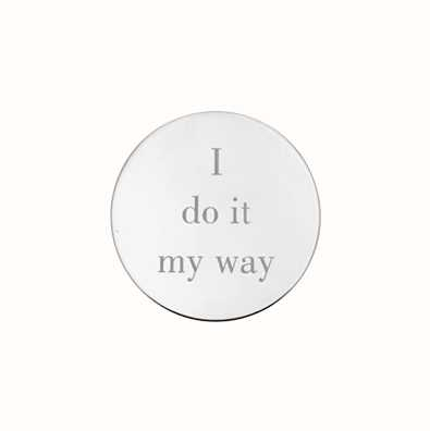 MY iMenso I Do It My Way Engraving 24mm Insignia (925) + G 24-0621