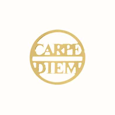 MY iMenso Carpe Diem Cover 24mm Insignia (925/Gold-Plated) 24-0682
