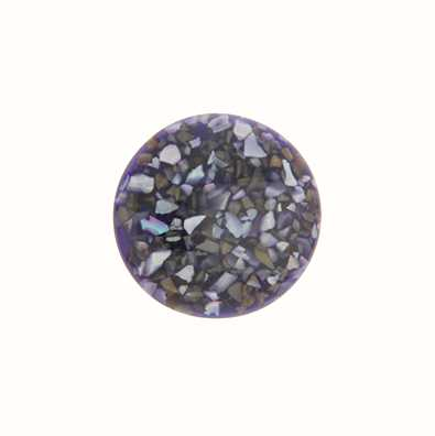 MY iMenso Crushed Shell Insigne D.Purple In Resin 24mm 24-0861