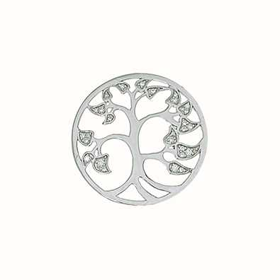 MY iMenso 925/Rhod-Plated Insigne Flat Tree Of Live Zirk 24M 24-0971