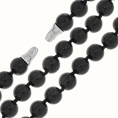 MY iMenso Onyx Necklace + Endcap (925/Rhod-Plated) 10mm/42 27-0511-42