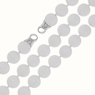 MY iMenso Freshwater Shell Necklace + Endcap (925/Rhod-Pla 27-0513-60