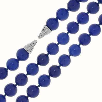 MY iMenso Blue Agate Necklace + Endcap (925/Rhod-Plated) 27-0515-50