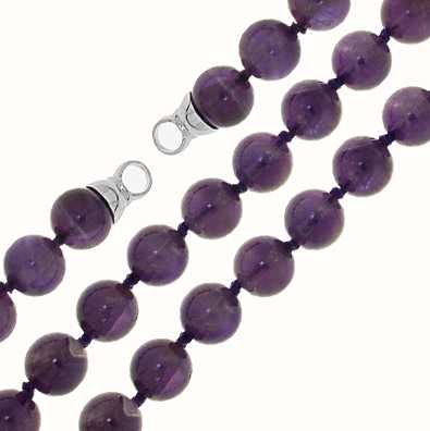 MY iMenso Amethyst Necklace + Endcap (925/Rhod-Plated) 8mm 27-0525-50