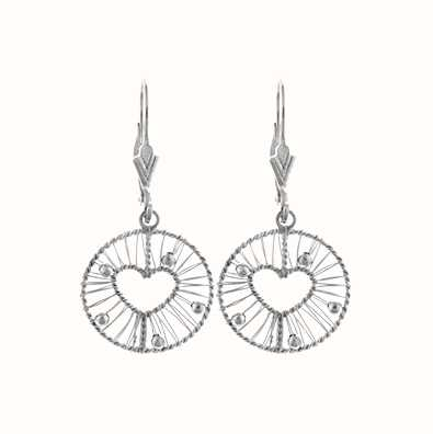 MY iMenso 925/Rhod-Plated Ear Stud Wire Heart 27-0667