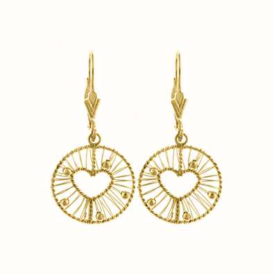 MY iMenso 925/Gold-Plated Ear Stud Wire Heart 27-0668