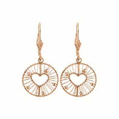 MY iMenso 925/Rosegold-Plated Ear Stud Wire Heart 27-0669