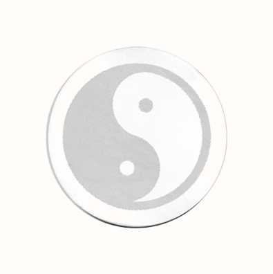 MY iMenso Yin&Yang Engraving 33mm Insignia (925) + Glass 33-0283