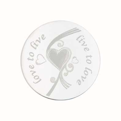 MY iMenso Love To Live Engraving 33mm Insignia (925) + Gla 33-0289