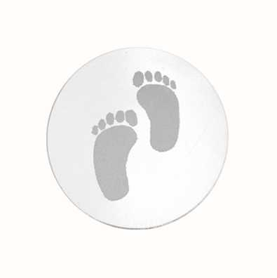 MY iMenso Baby Feet Engraving 33mm Insignia (925) + Glass 33-0291