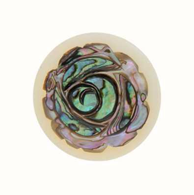 MY iMenso Rose Abalone 33mm Shell Insignia 33-0531