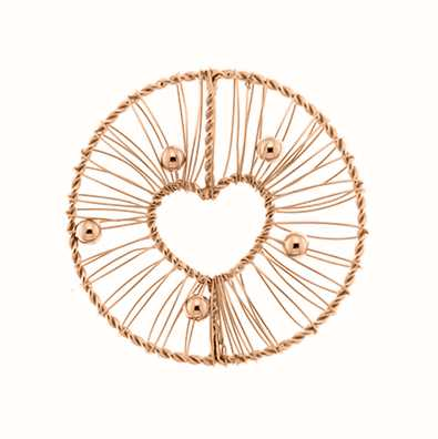 MY iMenso Wire Heart 33mm Fantasy Insignia (925/Rosegold-P 33-0666
