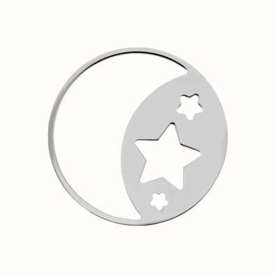 MY iMenso Moon Star Cover 33mm Insignia (925/Rhod-Plated) 33-0696