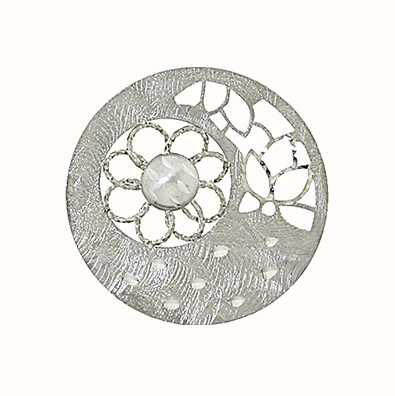 MY iMenso 925/Rhod Plated Insigne 3D Sunflower 33mm 33-1008