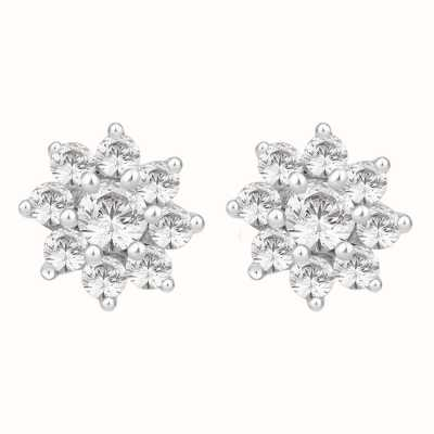 Perfection Swarovski Seven Stone Flower Cluster Stud Earrings (0.50ct) E2087-SK