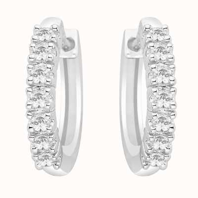 Perfection Crystals Seven Stone Claw Set Huggy Earrings (0.25ct) E2334-SK