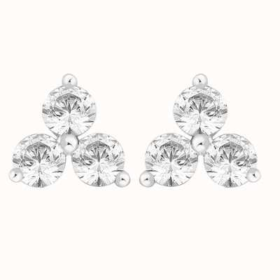 Perfection Crystals Triangular Trilogy Stud Earrings (1.50ct) E2358-SK
