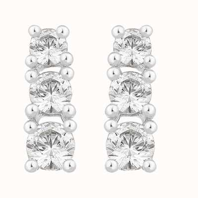 Perfection Crystals Graduating Claw Set Trilogy Stud Earrings (0.50ct) E2367-SK