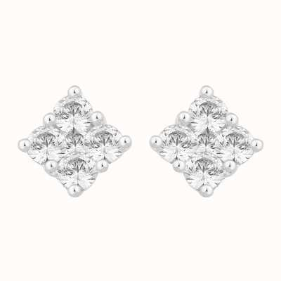 Perfection Crystals Square Shaped Five Stone Stud Earrings (0.50ct) E2424-SK