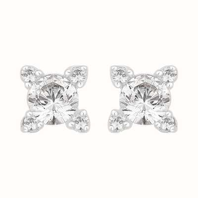 Perfection Swarovski Single Stone Stone Set Claw Stud Earrings (0.50ct) E2442-SK