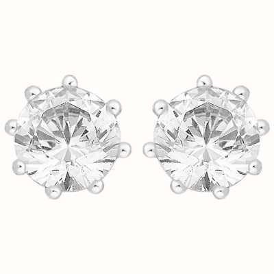 Perfection Crystals Single Stone Six Claw Stud Earrings(2.00ct) E2531-SK