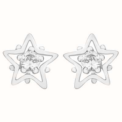 Perfection Crystals Single Stone Stud Earrings in Star Mount (0.10ct) E2681-SK