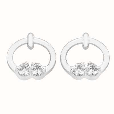 Perfection Crystals Two Stone Ring Stud Earrings (0.10ct) E2722-SK