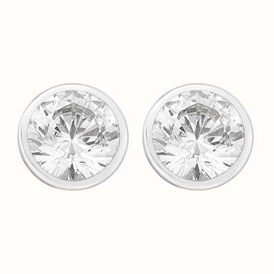 Perfection Crystals Single Stone Rubover Set Stud Earrings (1.00ct) E3126-SK
