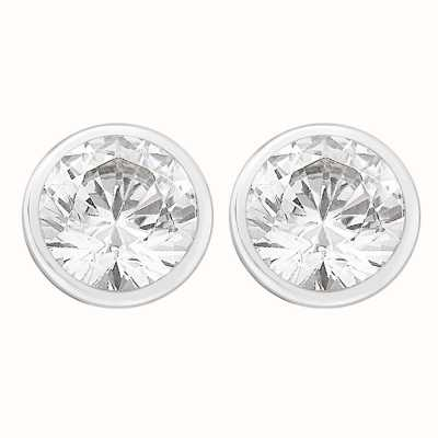 Perfection Crystals Single Stone Rubover Set Stud Earrings (2.00ct) E3171-SK
