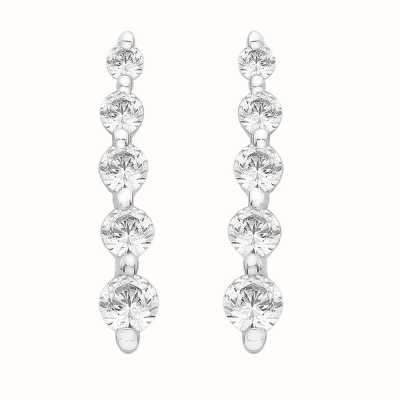 Perfection Crystals Graduating Five Stone Line Stud Earrings (0.30ct) E3183-SK