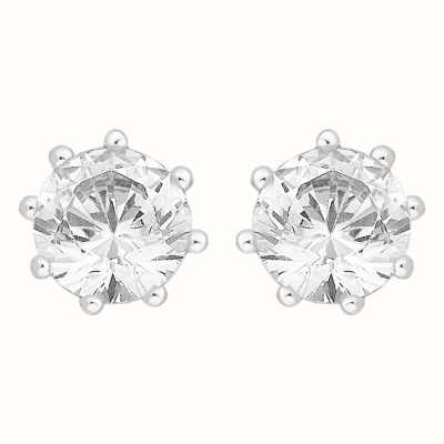 Perfection Crystals Single Stone Eight Claw Stud Earrings (1.25ct) E3199-SK